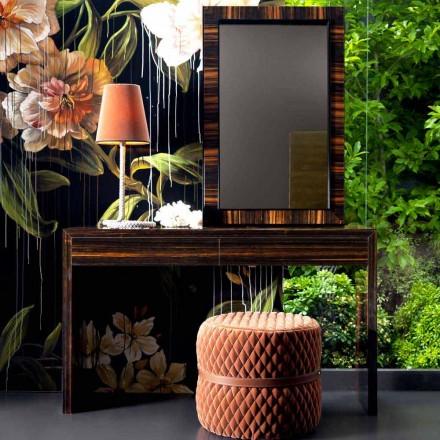 Grilli Zarafa moderna ebenholts träkonsol tillverkad i Italien