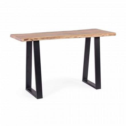 Modern konsol i Acacia Wood and Steel Design Homemotion - Teresanna