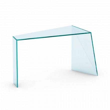 Modern entrékonsol i Extraclear Glass tillverkad i Italien - Rosalia