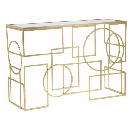 Rektangulär konsol i modern design i järn och spegel - Billie