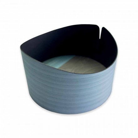 Modern cirkulär låda i äkta trä tillverkad i Italien - Stan