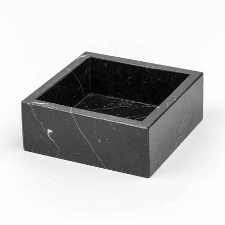 Fyrkantig behållare i Carrara eller Marquinia marmor Tillverkad i Italien - Torre