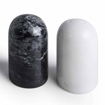 Salt- och pepparbehållare i Carrara och Marquinia Marble Tillverkad i Italien - Xino