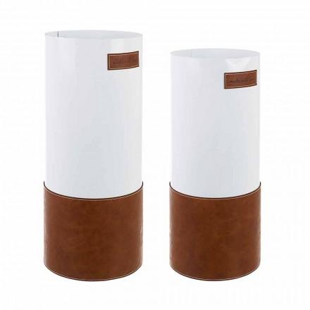 Par modernt paraplyställ i stål och konstläder Homemotion - Umbro