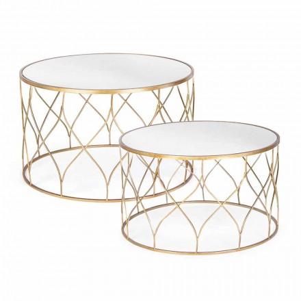 Par runda kaffebord i Homemotion i glas och stål - Amarillide