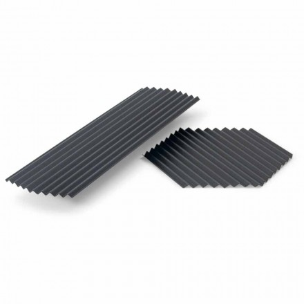 Par brickor i svart eller guldlackerat stål Modern design - Savona
