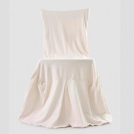 Elegant stolskydd för vardagsrum med rygg i färgad bomull - Filippa