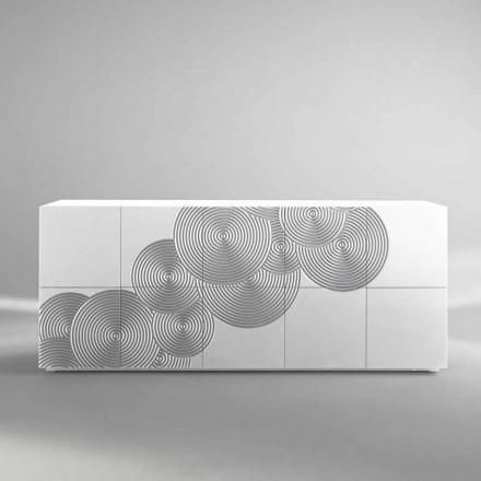 Skänk med 10 ante Slate, modern design, vit, svart eller guld
