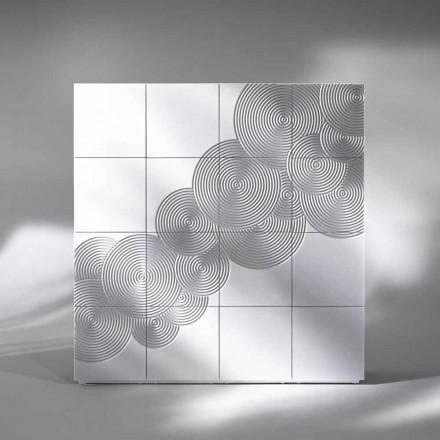 Skänk med 16 ante Slate modern design, vit, svart eller guld