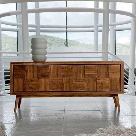Skåp med 3 dörrar i modern design massiv valnöt Nensi