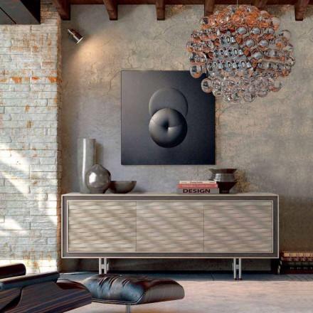 Tro modern design i massivt trä, L192 x D 50 cm, Teresa
