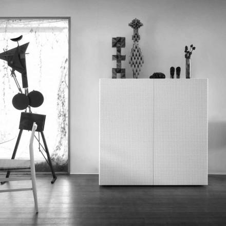 utformning skänk med 2 dörrar vit, svart eller guld mönster Flora