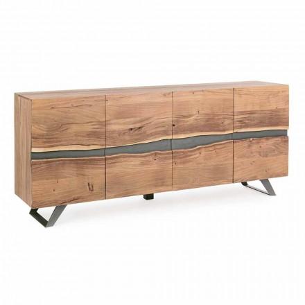 Skänk i trä och målat stål Modern design Homemotion - Silvia