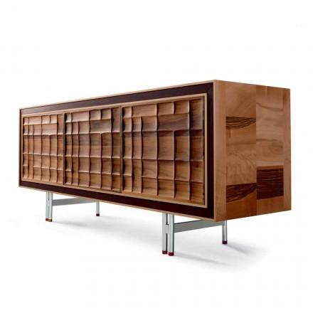 Modern design Skåp med 3 dörrar i massivt trä Anna