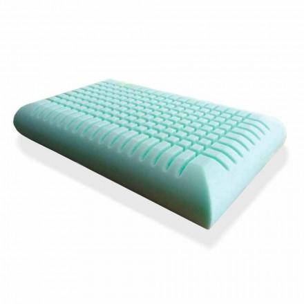Ergonomisk Memory Foam Kudde 12 cm hög Tillverkad i Italien, 2 stycken - Cool