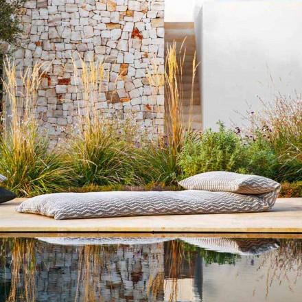 Enkel dagbädd utomhus designpuff, hög kvalitet tillverkad i Italien - Emanuela