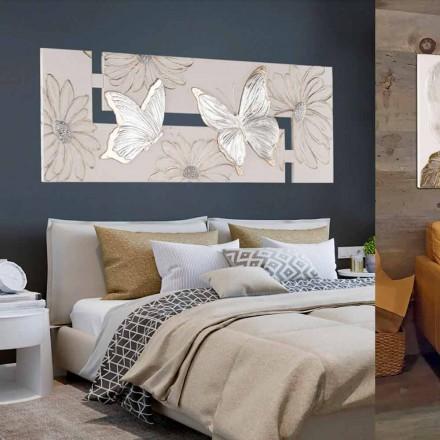 Handmålad dubbel-elle målning med fjärilar i Italien Martina