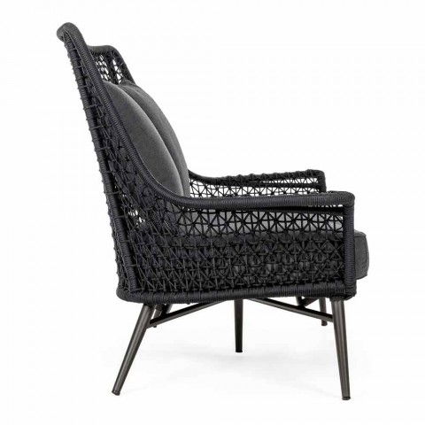 2-sits utomhusdesignsoffa i aluminium- och homemotion-tyg - Nigerio