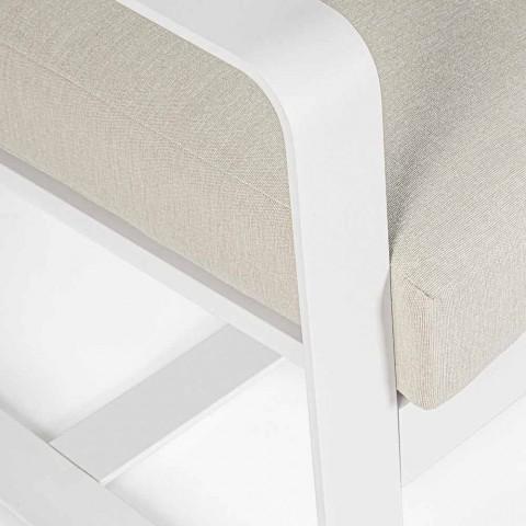 2-sitssoffa i aluminium med tygkuddar - Mirea