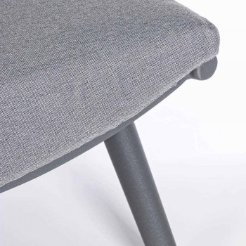 2-sits soffa i aluminium och rep med Homemotion-kuddar - Gillian