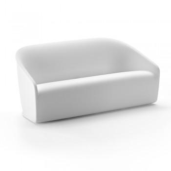 2 -sits utomhus soffa i färgad polyeten tillverkad i Italien - juli