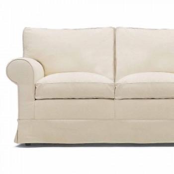 2 -sits soffa klädd och täckt i tyg tillverkad i Italien - Andromeda