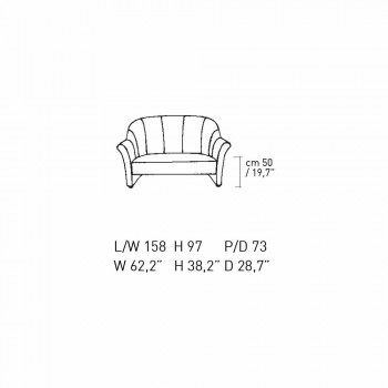 2 -sits soffa i svart sammet med kontrastsömmar tillverkad i Italien - Caster