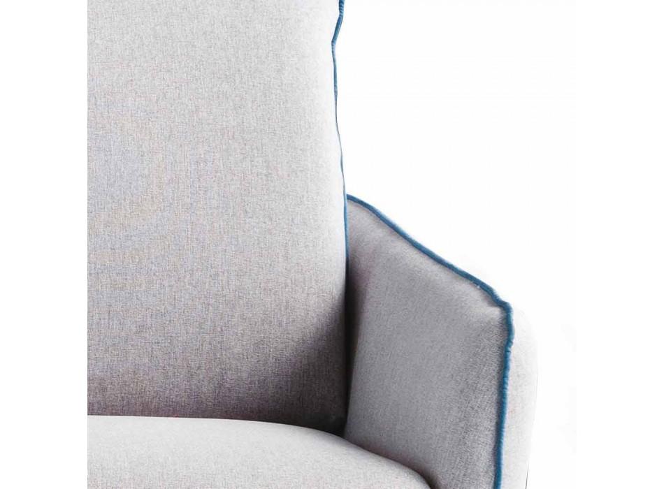 Soffa 2 platser maxi L.165cm konstläder / tyg tillverkad i Italien Erica