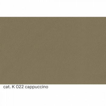 2 -sits soffa täckt i läder med träfötter tillverkade i Italien - Idra
