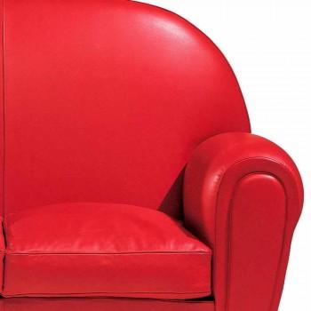 2 -sits soffa täckt i läder med lackade fötter tillverkade i Italien - Pegolo