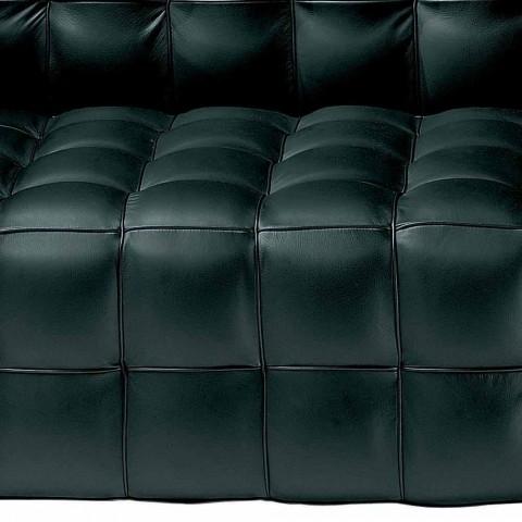 2 -sits soffa klädd i quiltat effektläder tillverkat i Italien - Vesuvio