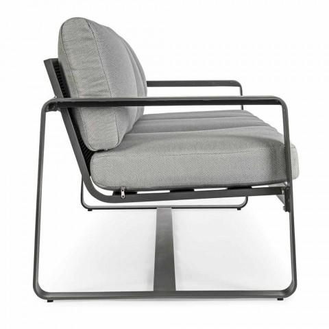 3-sits utomhus soffa med ryggkuddar och säte i tyg - Mirea