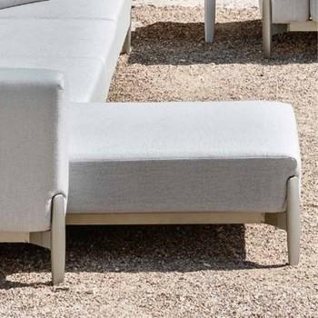 3-sits utomhus soffa i aluminium med förlängning och schäslong - Filomena