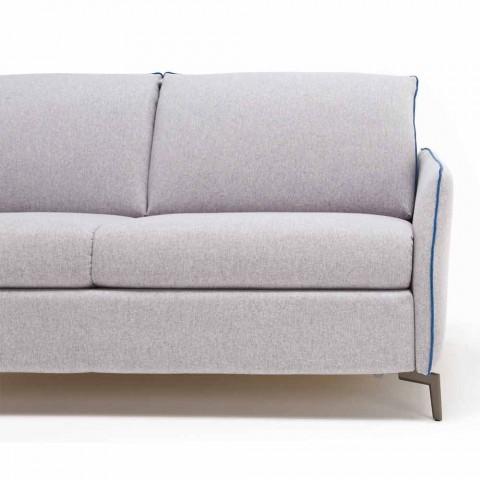 3-sits design soffa L.185cm tyg / eko-läder tillverkad i Italien Erica