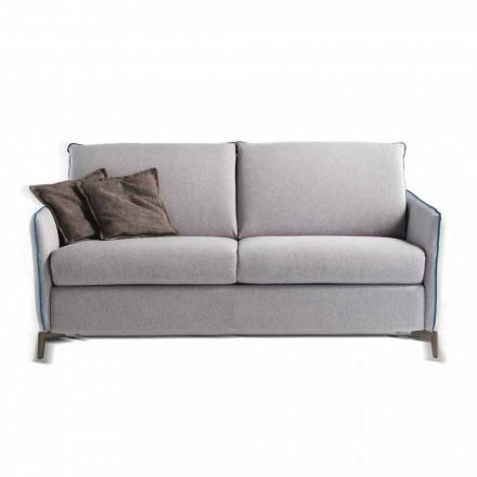 3-sits soffa Erica L. 185 cm, klädsel i tyg / konstläder