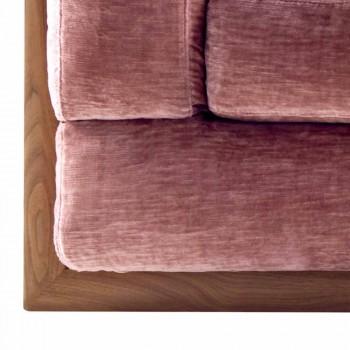 3-sitsad stoppad designsoffa Grilli York tillverkad i Italien