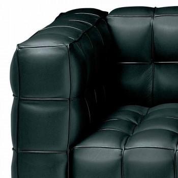 3 -sits soffa i kvalitet Made in Italy Quiltat effektläder - Vesuvius