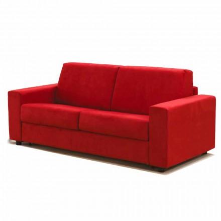 3-sits stor soffa Mora, tillverkad i Italien, klädsel i tyg / konstläder