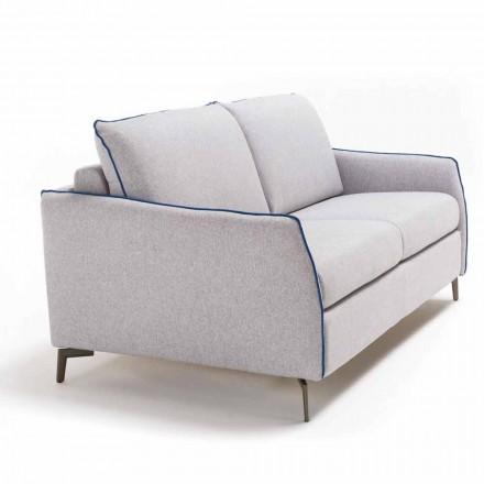 3-sits maxi soffa Erica L. 205 cm, klädsel i tyg / konstläder