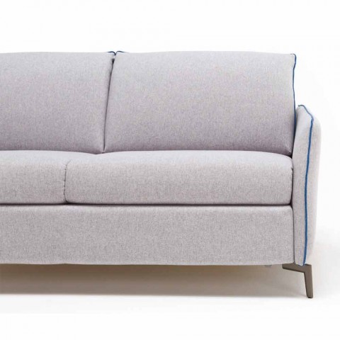 3-sits maxisoffa L205 cm modern design i eko-läder / Erica-tyg