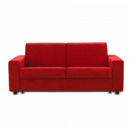 2 sits soffa modern design konstläder / tyg som gjorts i Italien Mora