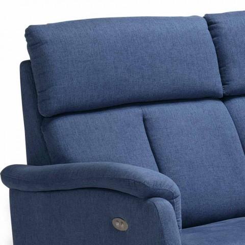 2-sits soffa modern design i läder, konstläder eller tyg Gelso
