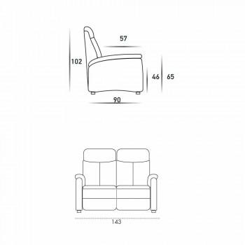 2-sits soffa i modern design, läder, ekoläder eller Gelso-tyg