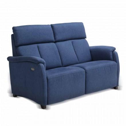 2-sits soffa Gelso, med klädsel i tyg / läder / konstläder