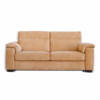 Design 2-sits soffa i tyg eller ekologiskt läder Lilia, tillverkad i Italien