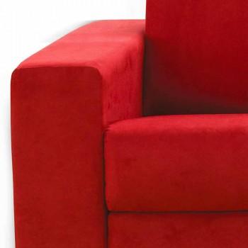 2 sits soffa maxi modern konstläder / tyg som gjorts i Italien Mora