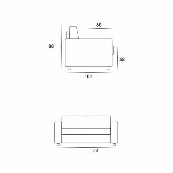 Modern 2-sits maxisoffa i eko-läder / tyg tillverkad i Italien Mora
