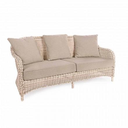 3-sits trädgårdsoffa i vävd fiber från Homemotion Design - Casimiro