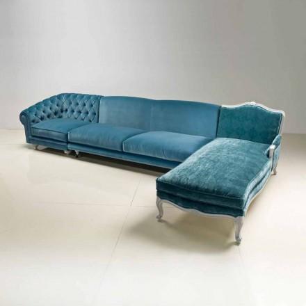 Hörnsoffa lyx klassisk design, tillverkade i Italien, Narciso
