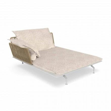 Garden Chaise Longue Sofa i aluminium och tyg - Cruise Alu av Talenti